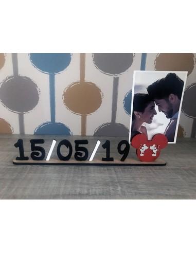 Portafoto Mickey con tu fecha especial