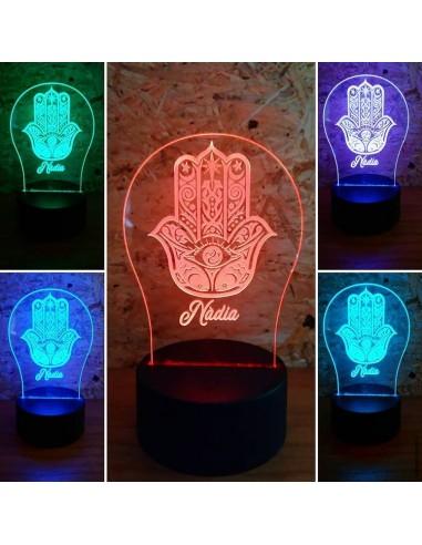 Lámpara led mandala personalizada