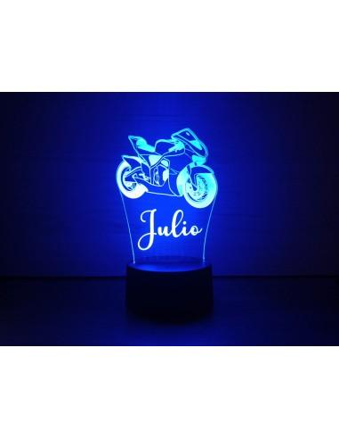 Lámpara led moto personalizada