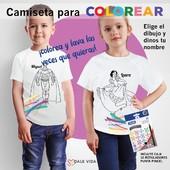 DESPIERTA LA CREATIVIDAD DE TUS PEQUES 🌈  Las camisetas👕 para colorear son un fantástico regalo para estimular la creatividad y pasar un rato divertido con los más pequeños de la casa. Pinta🖍 el dibujo como quieras y cuando quieras cambiar el diseño, lava la camiseta y píntalo de nuevo!  Descubre todos los modelos en nuestra web.